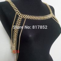 Body Jewelry - Double chains shoulders - curl