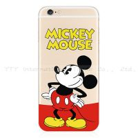 Cover iPhone 6 Plastic Rubber Transparent Mickey Mouse standing
