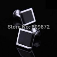 Cufflinks for men - black Garnet