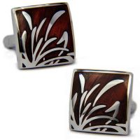 SPARTA Cufflinks for men - a brown color  and decorated