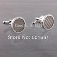 Cufflinks for men - silver-plated - circular