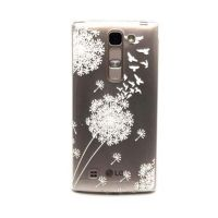 Cover LG 4G transparent plastic flowers