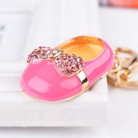 Pink shoe Keychain - studded with crystals