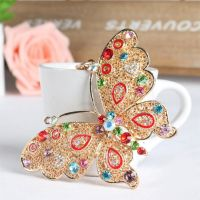 Chain butterfly keys large multicolored - Crystal Rhinestone