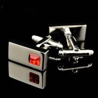 Cufflinks - rectangle with crystal