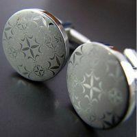 Cufflinks - circular shape - ornate