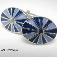 laobotou Cufflinks - circular - Blue Radial