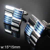 laobotou Cufflinks - silver-plated - a blue square shape
