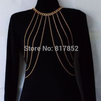 Body Jewelry - simple gold-plated chains / silver