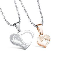 Heart Necklace - I love -for lovers