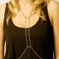 Body accessories - body chain exciting - gold-plated