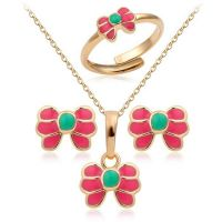 Set girls gold-plated accessories - Rose