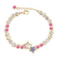 Crystal bracelets gold plated - Star