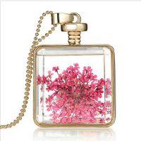 Dried flowers bottle pendant - Square 2