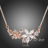 azora star Venus necklace studded with crystals Swiss