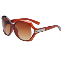 Round Style Sunglasses For Women (Brown)