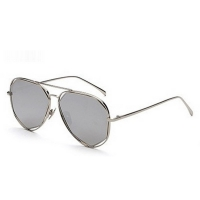 JackJad Sunglasses With Polygon Frame For Women (Grey)