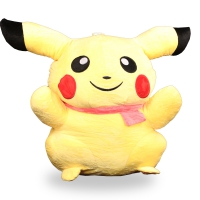 Doll cotton in the form of Pikachu