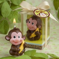 Small candles - cute monkey
