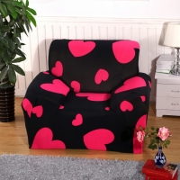 Sofa cover  beautifully designed color black with carvings hearts