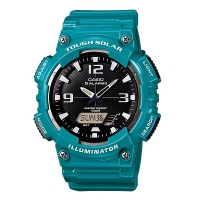 Casio AQ-S810WC-3AV Men s Teal Solar Analog Digital World Time Sports Watch