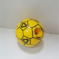 Mechanically cut in the shape of a ball