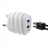 Fast Charging Dual USB 2.4 A 2 Port with cable 1m iphone