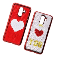 Cover Plastic with two different faces for Samsung J8 2018