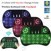 Wireless Mini Keyboard with Touch Pad Mouse and LED Light