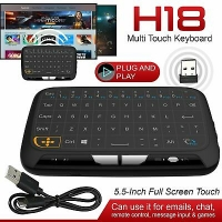 Mini Wireless Touchpad and Keyboard 2.4GHz with light