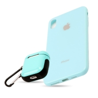 Set cover phone with wallet for Apple headphones For Iphone X