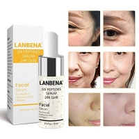 LANBENA Six Peptides Serum 24K Gold Anti-aging Serum Anti-wrinkle Firm Fine Lines Moisturizing