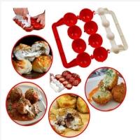 Plastic meatball maker