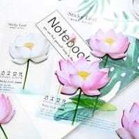 Notes paper sticker lotus flower