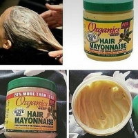 Treatment of new mayonnaise and improved for weak hair and damaged by herbs