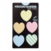Hearts Notes Paper