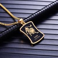 Metal Lion Pendant Necklace