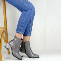 Women boots with transparent heels