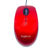 Logitech M100R Wireless Mouse Red