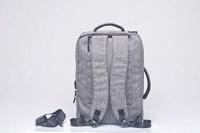 Ofiyaa Poseidon Three in One bagpack (Laptop Bag/Shoulder Bag/Carry Bag)-Grey Color