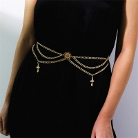 Women's belt with a distinctive catenary