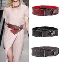 Wide leather women belt