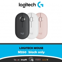 Logitech Pebble M350 Wireless Mouse with Bluetooth or USB - Silent, Slim Computer Mouse with Quiet Click for iPad, Laptop, Notebook