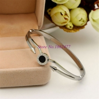 Bracelet Stainless Steel Round Romanian numbers