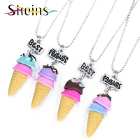 Necklace best friend - ice cream 4 pcs