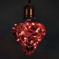 Beautiful heart shaped lamp