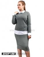 Shirt set with a skirt
