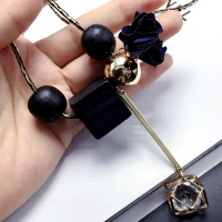 Long thin necklace