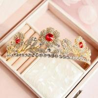 Wedding crown studded with rhinestones
