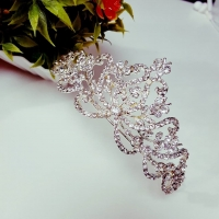 Bride crown studded with crystals